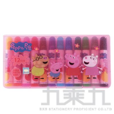 粉紅豬小豬12色PP盒水洗彩色筆(5) PGCP150-5