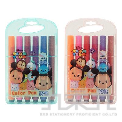 迪士尼(Tsum Tsum)12色三角水洗彩色筆 TTCP150-2