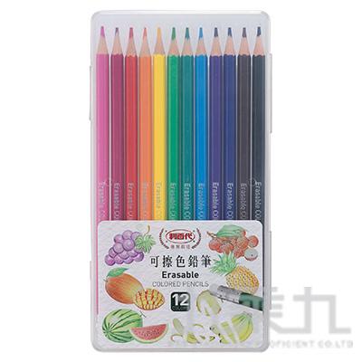 利百代 可擦色鉛筆12色 CC-864