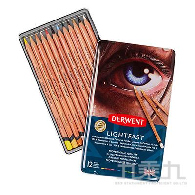 德爾文 LIGHTFAST油性色鉛12色鐵盒裝 DW2302719