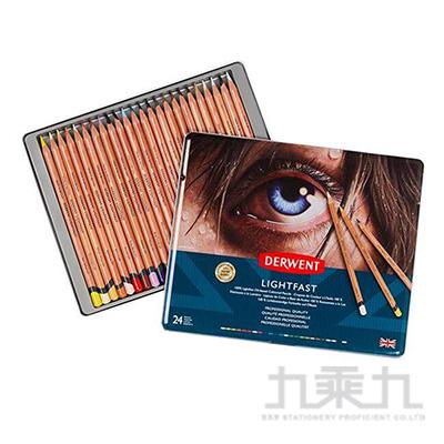 德爾文 LIGHTFAST油性色鉛24色鐵盒裝 DW2302720