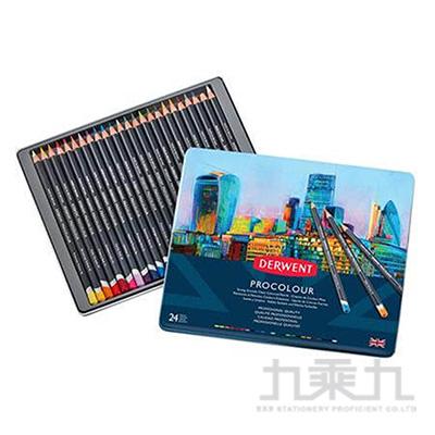 德爾文PROCOLOUR油性色鉛24色鐵盒裝 DW2302506