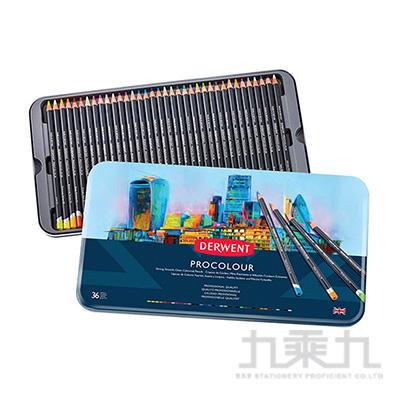 德爾文PROCOLOUR油性色鉛36色鐵盒裝 DW2302507