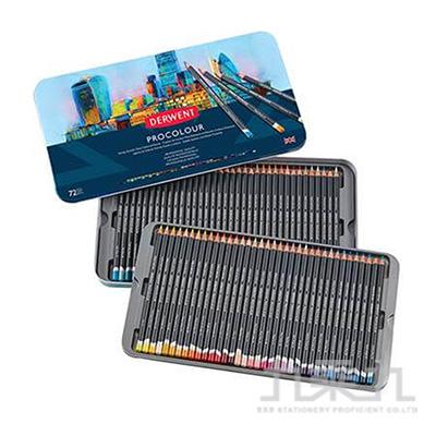 德爾文PROCOLOUR油性色鉛72色鐵盒裝 DW2302508