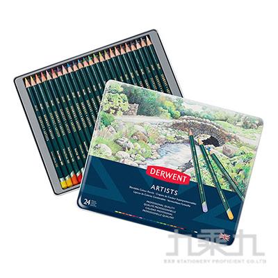 德爾文 ARTIST油性色鉛24色鐵盒裝 DW32093
