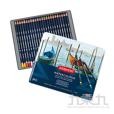 DERWENT德爾文水性色鉛24色鐵盒裝 DW32883