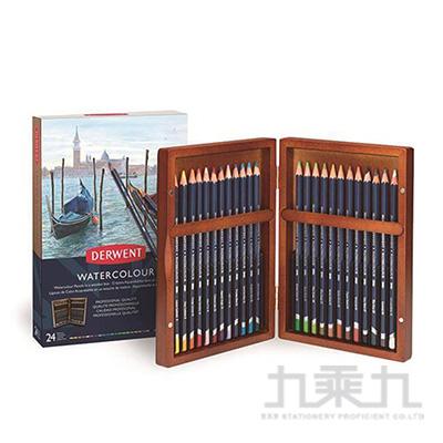 德爾文水性色鉛24色木盒裝 DW2300152