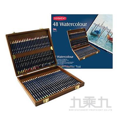 德爾文水性色鉛48色木盒裝 DW0700758