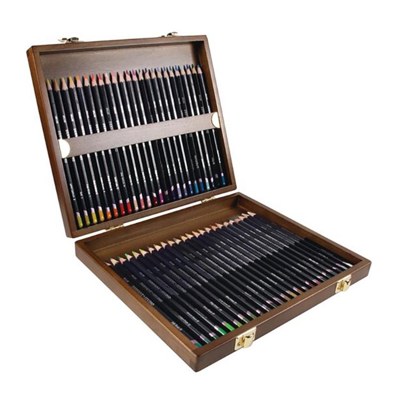 德爾文STUDIO油性色鉛-木盒裝48色 DW0700822