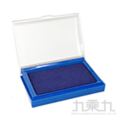 徠福 高級打印台-藍色 NO.2757