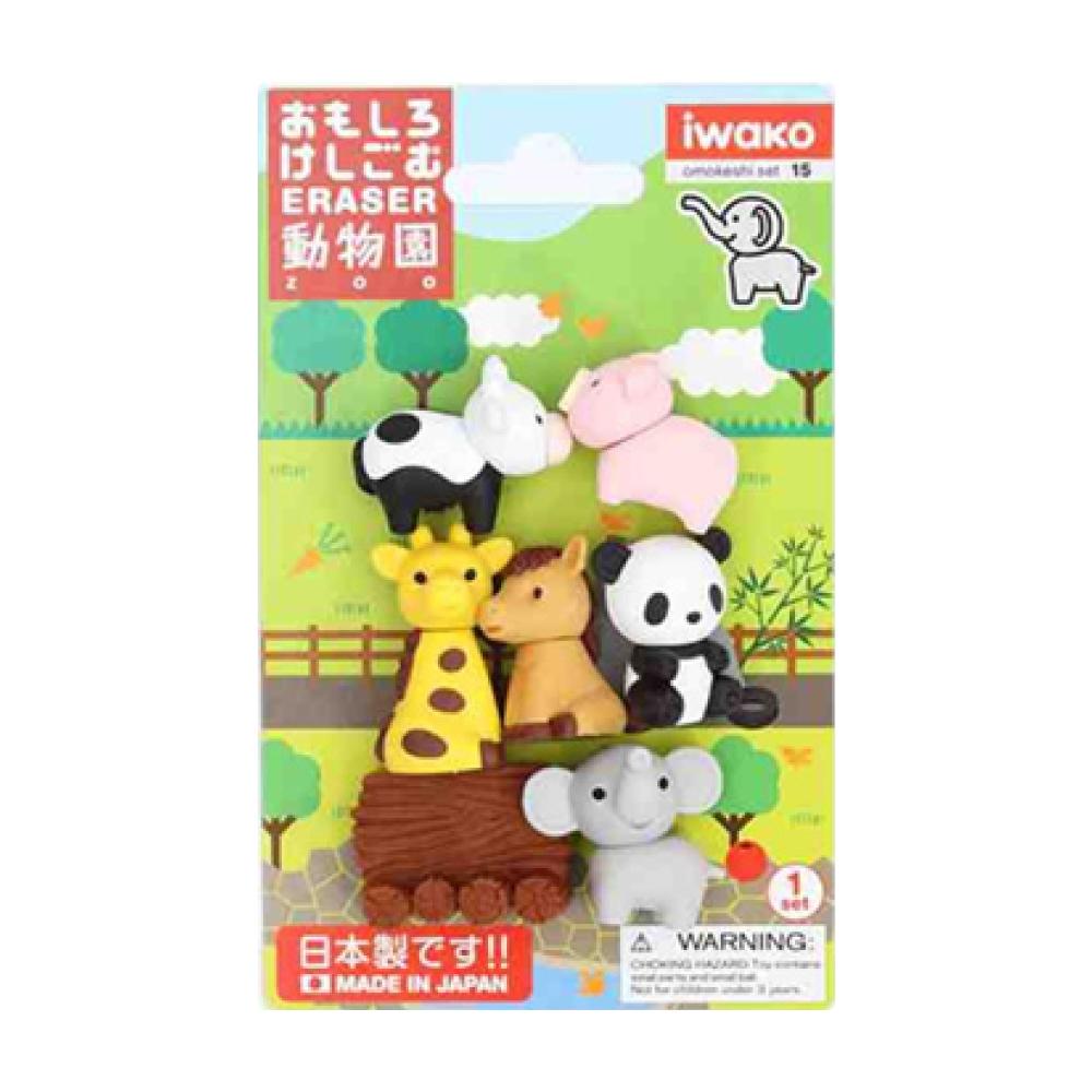 造型橡皮擦/動物園 IWAKO:ER-BRI018