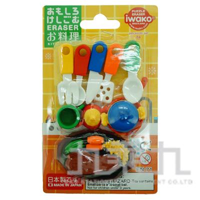 造型橡皮擦-料理餐具 IWAKO:ER-981028