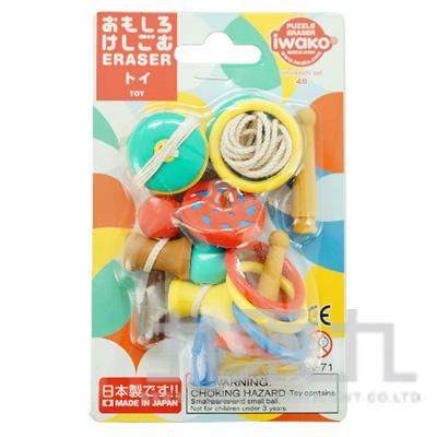 造型橡皮擦-傳統玩具 IWAKO:ER-BR1053