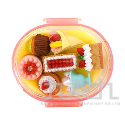 7入橡皮擦盒裝組/甜點 IWAKO:ER-PUC001