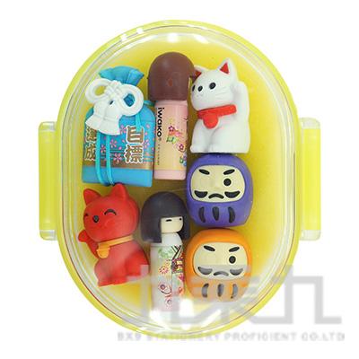 7入橡皮擦盒裝組/幸運物 IWAKO:ER-PUC005