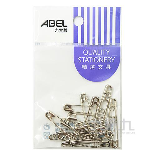 ABEL袋裝鍍鎳別針#1(18入)