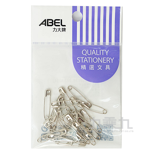 ABEL袋裝鍍鎳別針#3(25入)