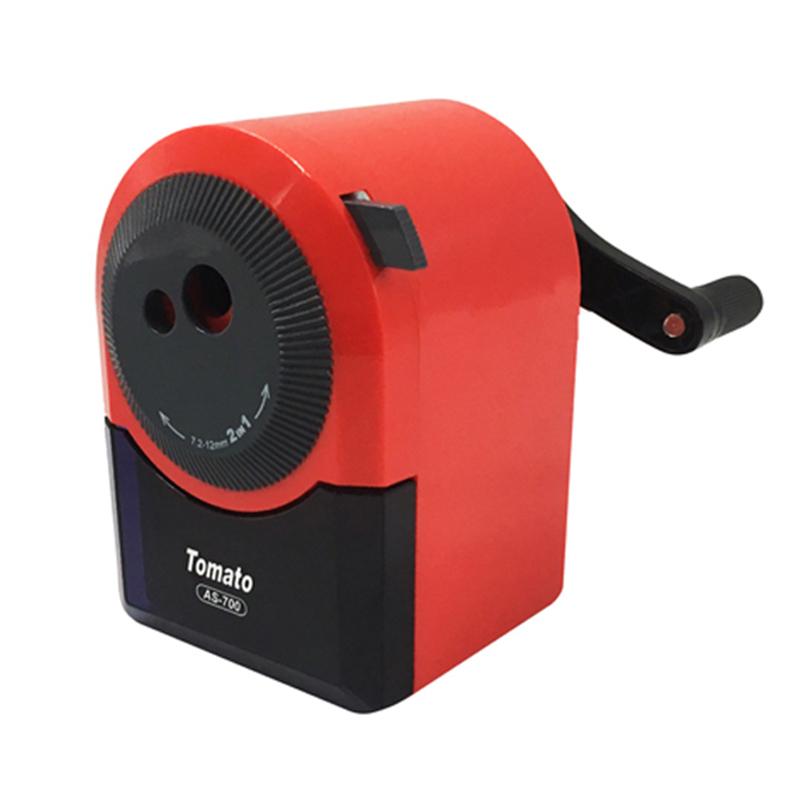 (手搖)大小孔削筆機-紅 AS-700