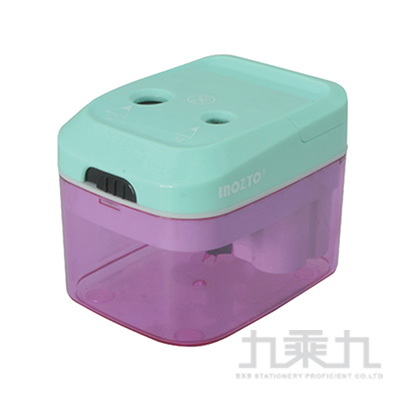 INOZTO二孔電動鉛筆刨(綠+紫)