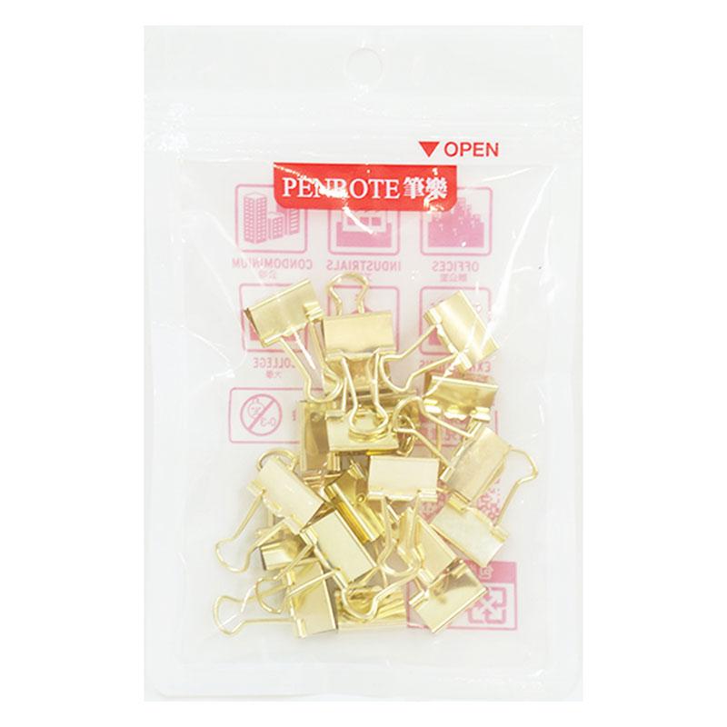 #6長尾夾-金色(15mm)20入