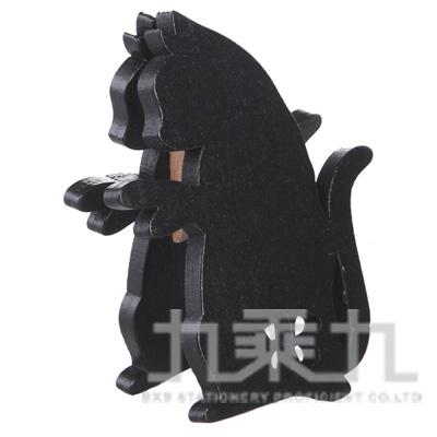 98#貓.木質立體便條夾 M91075A.B-40