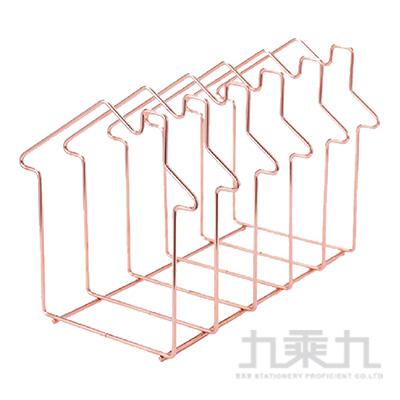 房子鐵藝五格書架(玫瑰金)-簡單生活 CZ-293A