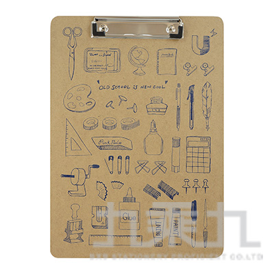 (自然風)A4原色板夾手繪系列-經典文具