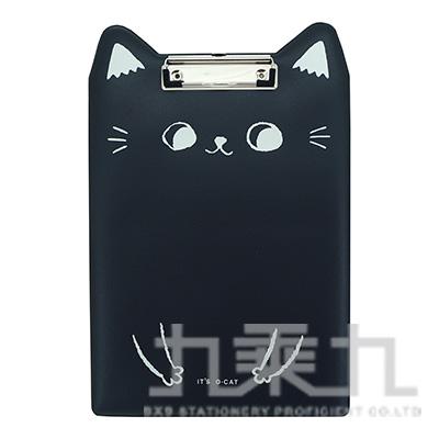 O-cat貓耳A4膠皮板夾-黑