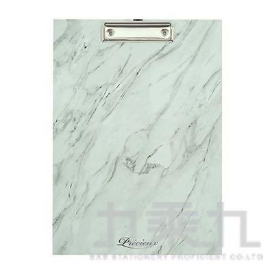 A4大理石紋板夾-白