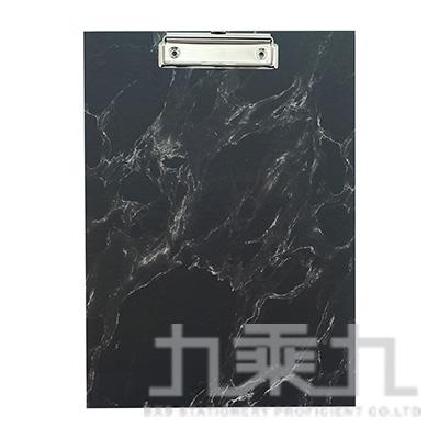 A4大理石紋板夾-黑