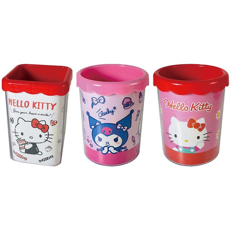 Hello Kitty 新花邊筆筒方&圓 195839