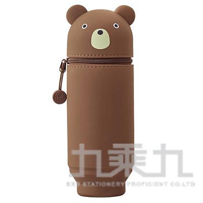 LIHIT小熊造型伸縮筆袋(大) A-7714-1