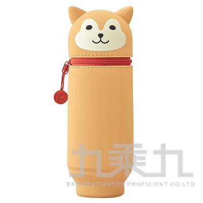 LIHIT柴犬造型伸縮筆袋(大) A-7714-2