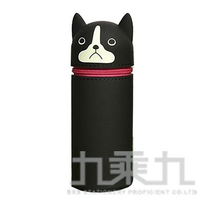LIHIT波士頓犬造型伸縮筆袋(大) A-7714-8