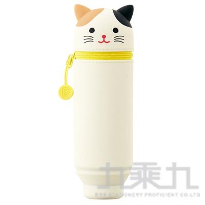 LIHIT 花貓造型伸縮筆袋 A-7712-7