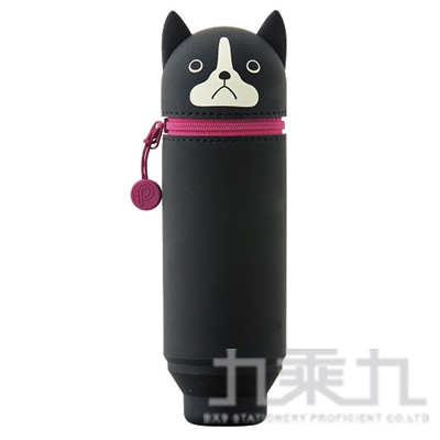 LIHIT 波士頓犬造型伸縮筆袋 A-7712-8