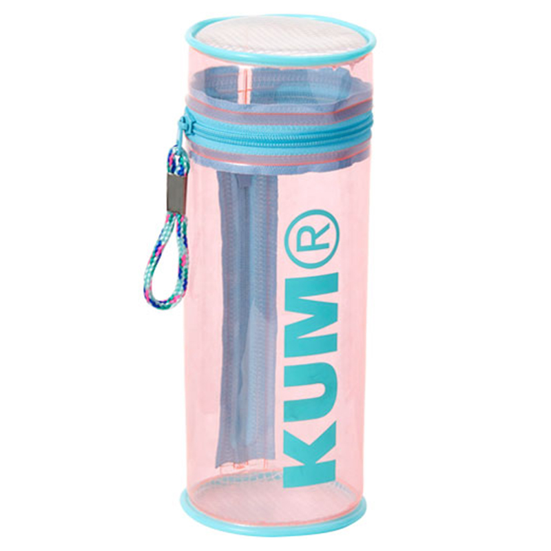 KUM筒狀立式筆盒/粉紅
