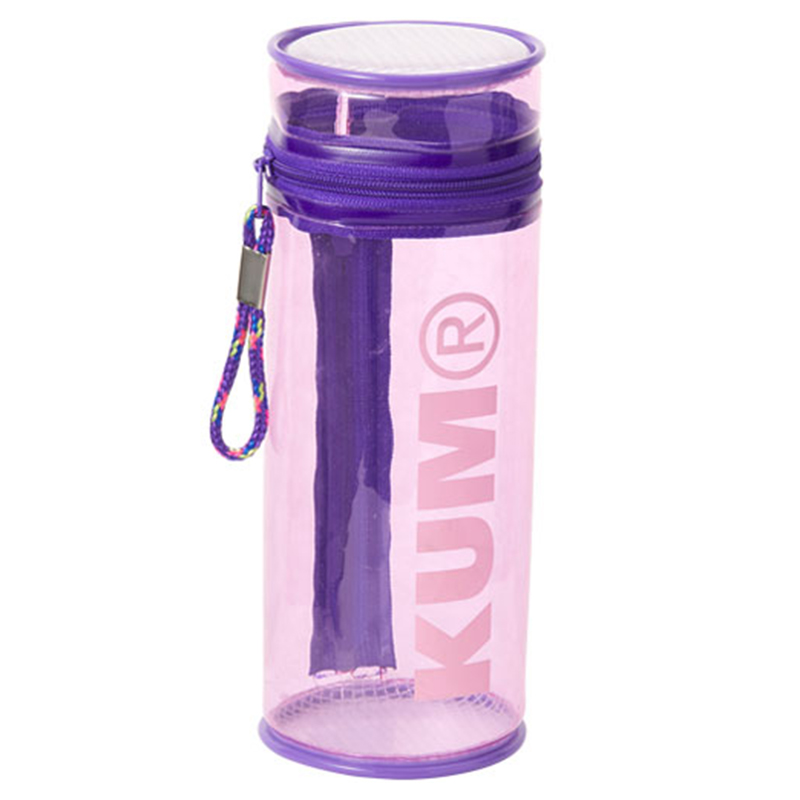 KUM筒狀立式筆盒/淡紫