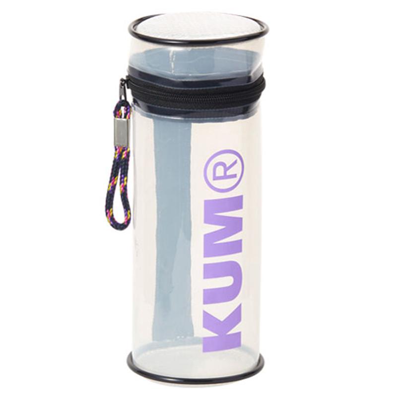 KUM筒狀立式筆盒/粉白
