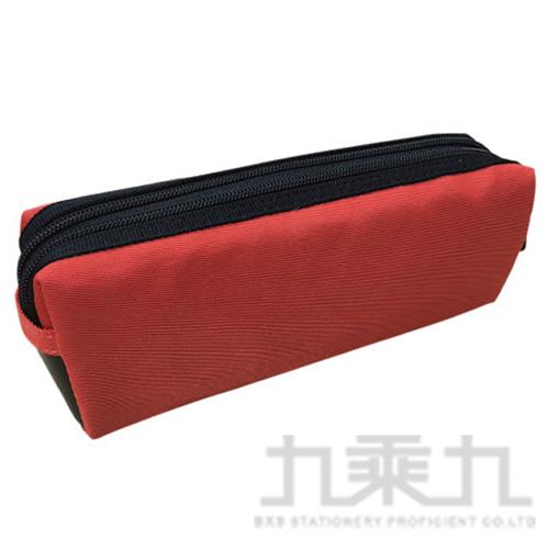 (2008+99) 雙拉鍊方型大筆袋(橘) FY341D