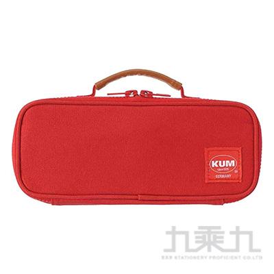 KUM 可提帆布筆袋/紅色 R/M:KM169R