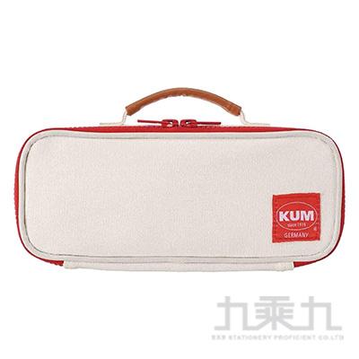 KUM 可提帆布筆袋/白色 R/M:KM169W