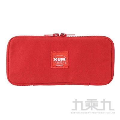 KUM 扁平帆布筆袋/紅色 R/M:KM170R
