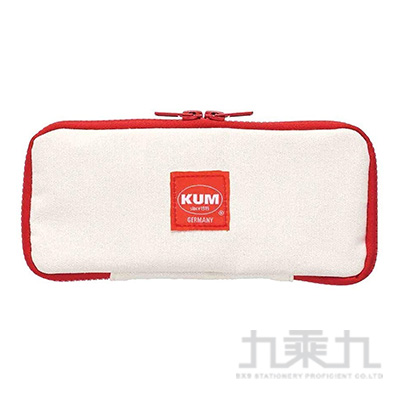KUM 扁平帆布筆袋/白色 R/M:KM170W