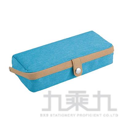 掀蓋如貝筆袋-藍 R/M:FY349A