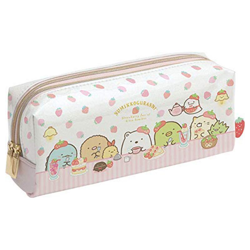角落生物雙拉鍊筆袋/草莓 S/G:PY80701