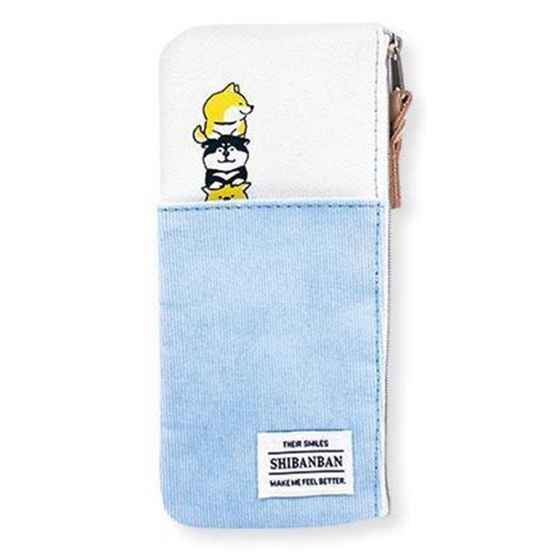 微笑柴犬筆袋/藍 MIND:54966