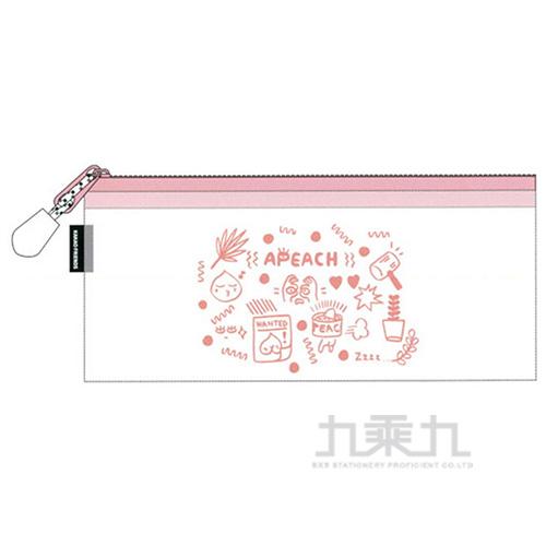 KAKAO FRIENDS透明筆袋粉紅色 0706323A26109