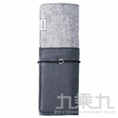 KING JIM 海軍藍 Frio 可站立筆捲鉛筆盒 8401