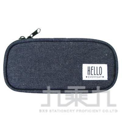 HELLO牛仔長型布筆盒UACG2601